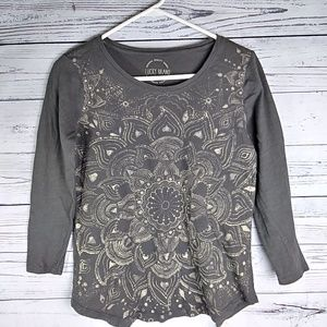 Lucky Brand 3/4 Sleeves Top. Size Small.